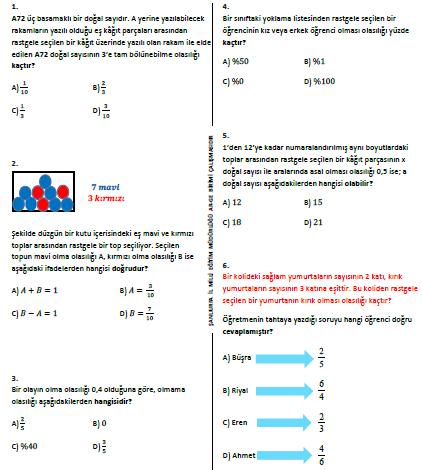 cevaplı TEOG 2.dönem 8.sınıf deneme sınavı