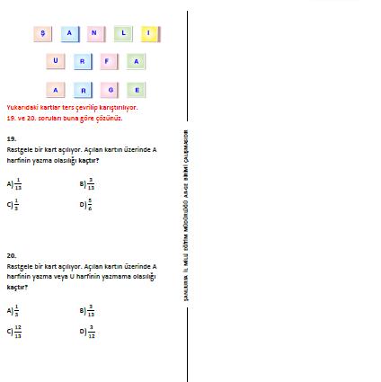 cevaplı TEOG 2.dönem 8.sınıf deneme sınavı 8.sınıf